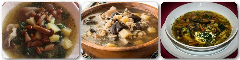 Грибные супы...