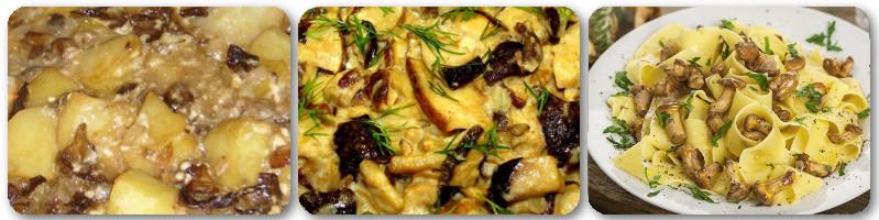 Вторые блюда из грибов...