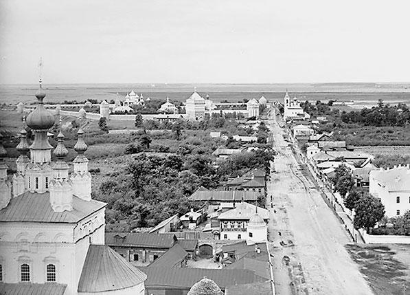 Вид Суздаля в сторону Спасо-Евфимиего монастыря. Фотография С.М. Прокудина-Горского. 1911 г.