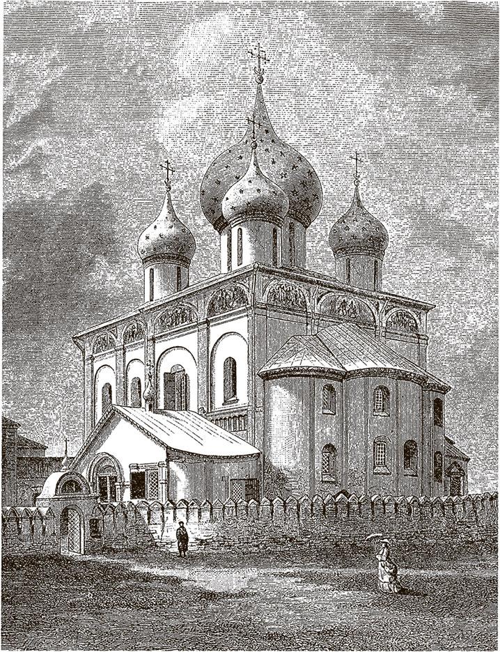 Кафедральный собор Рождества Богородицы в Суздале. Гравюра ХIХ в.